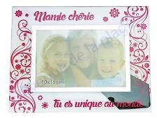 """Cadre photo """" Mamie chérie"""" à poser horizontal verre idée cadeau original neuf"""