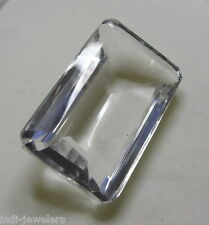 BEAUTIFUL75 CT RECTANGLE SHAPE  NATURAL CRYSTALTOPAZ GEM STONE FROM MADAGASKAR