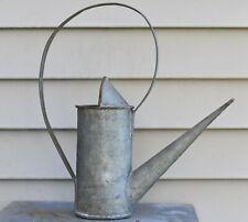 Vintage Antique Soldered Galvanized Metal Watering Can Gardening Tool