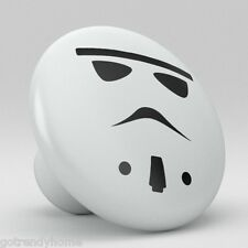Star Wars StormTrooper Style Ceramic Knobs Kitchen Drawer Cabinet Vanity 705