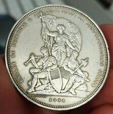 Monnaie argent 5 Francs concours Tir de Fribourg 1881 Suisse