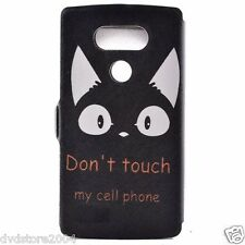 Custodia LIBRO Cover DONT' TOUCH MY CELL Back Wallet DISEGNO per LG G5 H850 5.3