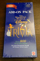 Wonderful World of Disney Kids Trivia Game Add-On Pack 800 New Questions Sealed