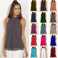 Womens Cami Vest Sheer Pullover Loose Casual Shirt Blouse Layered Chiffon Tops