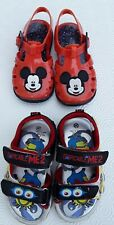 Baby Sandals MICKEY MOUSE &MINIONS size 5 /20 good condition