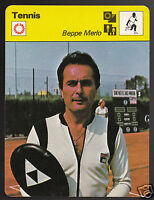 BEPPE MERLO Italian Tennis Player Photo 1979 SPORTSCASTER CARD 74-11