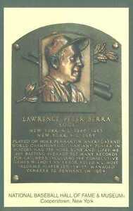 Yogi Berra Baseball Hall of Fame Postcard Plaque