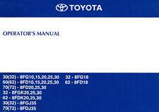 Forklift Manual - Toyota 8 Series Operator's Manual