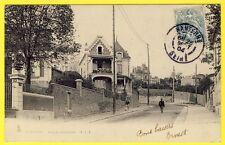 cpa RARE 92 - PUTEAUX COURBEVOIE (Hauts de Seine) Rue de COLOMBES Animée VILLAS