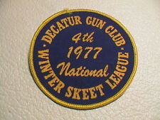 DECATUR ILLINOIS GUN CLUB 4TH 1977 NATIONAL SKEET CLAY PIGEON TRAP SHOOT PATCH