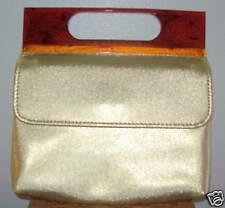 "Vintage Gold Evening Clutch ""GLAMOUR"" Purse Genuine Tortoise Handle"