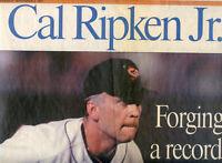 Carl Ripken Jr-Orioles-1995 Washington Times Newspaper-2131 Games-Baseball
