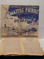 Partition / tablature Les chansons du Tour de France MAITRE PIERRE / PEDALOU