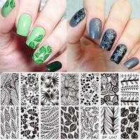 BORN PRETTY Nail Art Stamp Plate  Image Template Leaf Pattern Manicure BP-L047