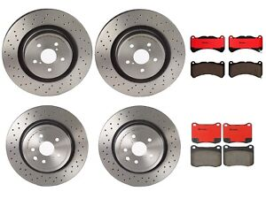 Front Rear Full Brembo Brake Kit Disc Rotors Drilled Ceramic Pads For Lexus IS-F