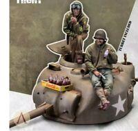 1/35 Resin Figure Model Kit U.S. TANK & COKE (WITH turret) Sherman Turret