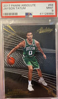 2017 Panini Absolute # 68 Jayson Tatum Rookie RC Boston Celtics PSA 9 MINT HOT!