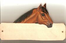 Quarter horse stable/stall/barn name plate/plaque/sign personalised gift