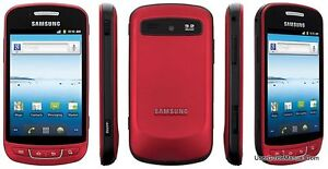 Samsung R720 ADMIRE Metallic Red Vitality CDMA Smart Phone Verizon Prepaid 3G