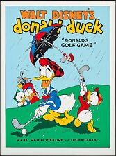 WALT DISNEY'S DONALD DUCK DONALD'S GOLF GAME LIMITED SERIGRAPH LITHOGRAPH POSTER