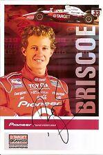 2005 RYAN BRISCOE signed INDIANAPOLIS 500 HERO PHOTO CARD POSTCARD INDY CAR IRL