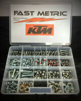 FAST METRIC EXTRA LARGE 296 PIECE BOLT KIT FOR KTM DIRT BIKES