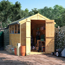 8x6 Wooden Shed - Windowed Master Tongue and Groove BillyOh Apex Shed 8ft X 6ft