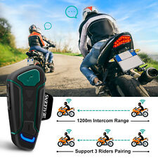 BEAUDENS Motorcycle Bluetooth Headset 1200m Range 3 Riders WT003 Helmet Intercom