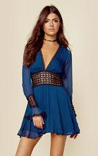 FOR LOVE & LEMONS XS CELINE MIDNIGHT OPEN BACK LINED MINI DRESS NWT MSRP$268