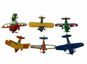 Mattel Disney Planes Movie Diecast Toy Lot 6 Dusty Crophopper Skipper Sun Wing