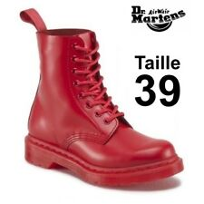 Dr Martens 1460 pascal mono poppy red, taille 39 EU (UK 6) NEW in Box