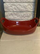 Rachael Ray 1.25 Quart Red Oval Baking Dish