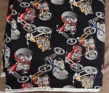 New listing Mini Hot Bikes Fabric 2003 Alexander Henry Fabrics Collection New 14 Yd +- Rare