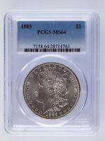 1885 Silver Morgan Dollar $1 PCGS Graded MS 64
