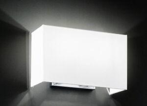 Lampada Applique Cromo Spazzolato con Paralume in PVC Bianco Perenz 5881 CR