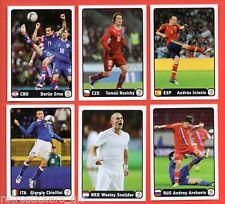 PANINI EC EURO 2012 - 6 Coca-Cola extrastickers A-B-C-D-E-F - MINT