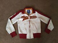 Abercrombie & Fitch Mens Zip Up Sweatshirt Jacket Sz M Medium Vintage Rare!