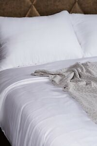Bamboo Bed Linen set. Pure White. 5 sizes. 100% Bamboo. Antibacterial.