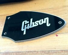 Gibson HP Flying V Bass Truss Rod Cover Plate, High Performance, Black & Silver