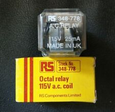 RS 348-778 Octal Relay 115V a.c. coil (NEW)