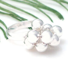 Cute Moveable 9 Cluster Beads .925 Silver Ring-6