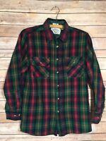 Northwest Territory Flannel Shirt Size Men's Size: M Green Plaid Vintage Medium