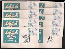 AUSTRALIA Frama Vending CUPPEX 1987 FDC set of 9.  Free shipping