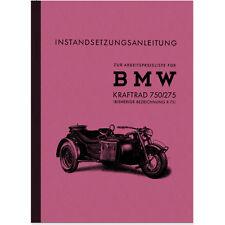 BMW R 75 WH Reparaturanleitung Werkstatthandbuch Repair Manual Seitenwagen R75