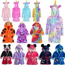 4d4b4b1f93 Unicorn Bathrobe Dressing Gown Pyjamas Soft Warm Kids Girl Boy Mickey  Loungewear