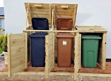 More details for single/double/triple wheelie bin tidy store/cover/shed/storage unit