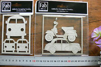 CHIPBOARD Volkswagon COMBY, or Car & Scooter - 2 Design Choice Fab Scraps FST