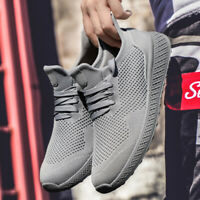 Men's Fashion Sneakers Breathable Athletic Sports Light Weight Casual Shoes Size