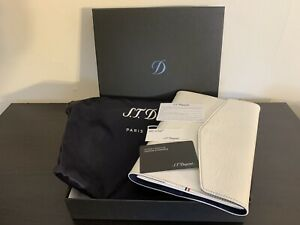Store Sample S.T. Dupont White Leather A5 Cover and Notebook 092202