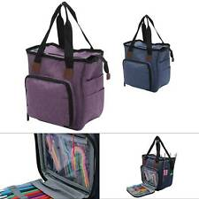 Knitting Tote Bag Wool Crochet Storage Bag Sewing Needles Organizer High Quility